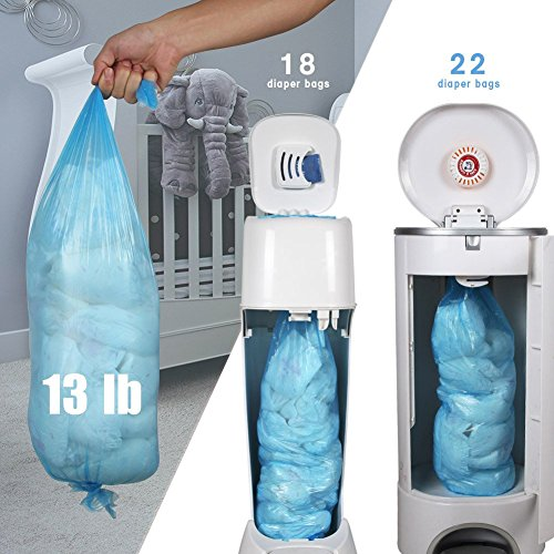 Pack of 4 Diaper Pail Refills Compatible Genie Diaper Pail and Munchkin 4-6 Months Supply 1120 Count