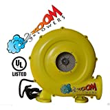 Bounce House Blower - 1hp 780 Watt Zoom Commercial Air Blower for Inflatables, Slides, Water Slide, Obstacle Course High Quality Air Mover