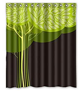 Modern design Botany Love Tree Design Sweet Shower curtain, size Width * Height / 60 * 72 inch / 152 * 183cm, Polyester, Eco-Friendly, best and suitable for wife