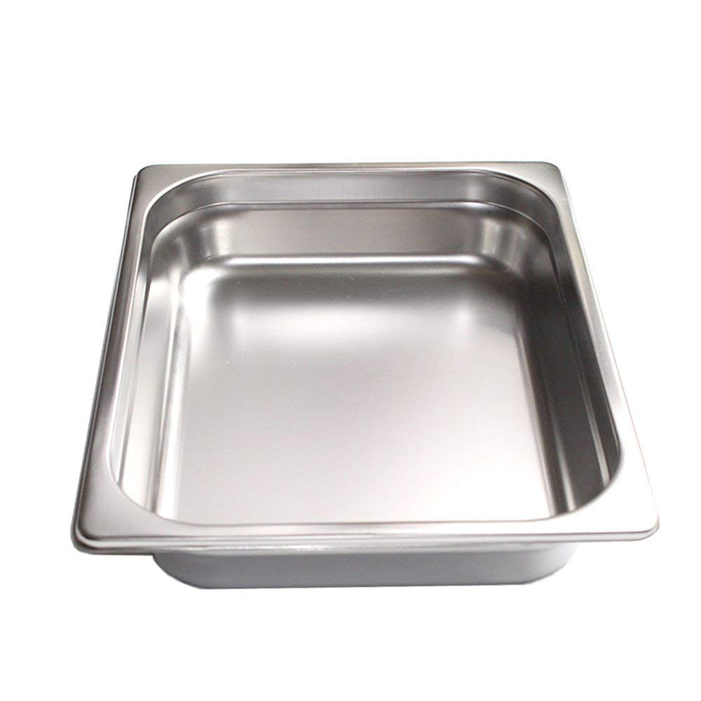 FutureSprout 4'' Half-Size Anti-Jam Steam Table Pan for Cooking, Storage, for Restaurant, Cafeteria, Dining Hall, Catering Business, foodservice Establishment Hotels Buffet by FutureSprout (Image #2)