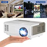 Portable Home Theater Projector 1500 Lumen for Movie Gaming, Multimedia Smart Projector Support 1080P Full HD HDMI USB VGA AV Connection for DVD Player Mac iPhone iPad Smartphone TV Kodi Hulu Blue Ray