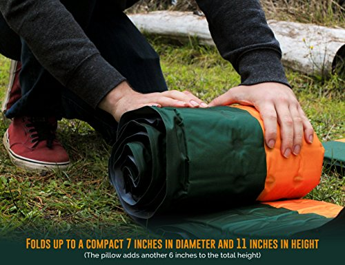 Ryno Set, Self-Inflating Camping Mattress The is Large Insulated Yet Compact A Hiking,