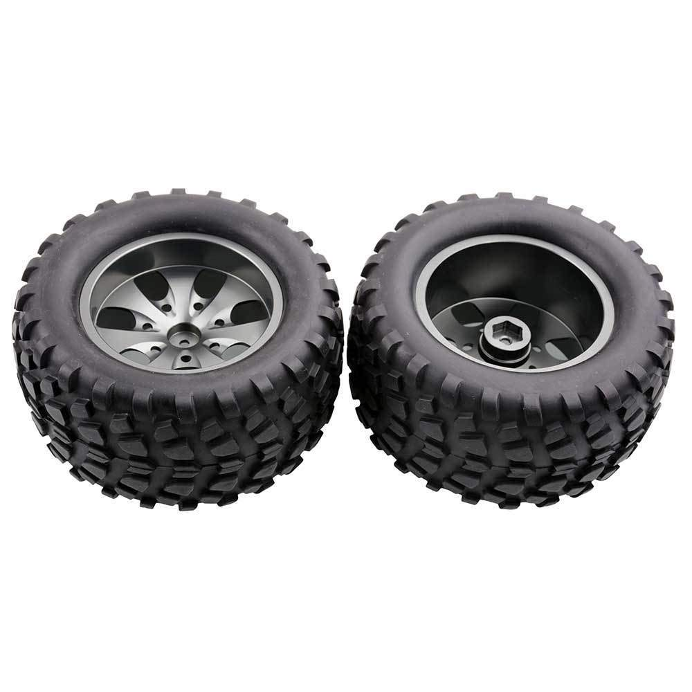 Toyoutdoorparts RC 08008N Alum Gray Wheel&08043 Tires for RedCat 1/10 Nitro Volcano S30 Truck by Toyoutdoorparts (Image #1)