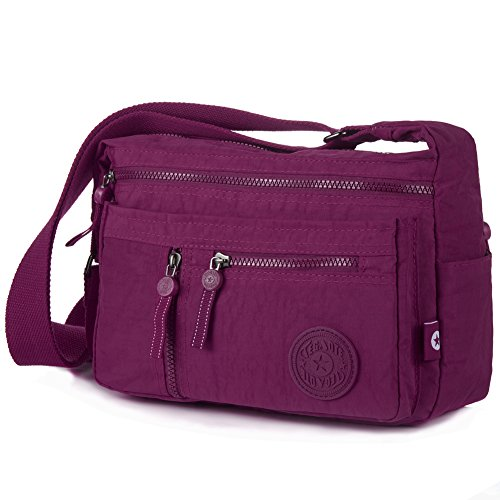 Violet Crossbody Violet 932 Mini Purse Vivid 932 Shoulder Red Bag Nylon Travel vdUgwRBq