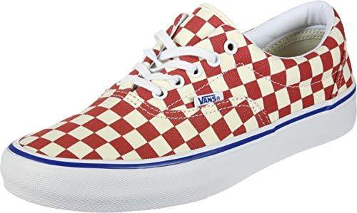 Checkerboard Rococco Red Classic White