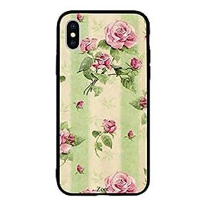 iPhone XS Cream green flowers