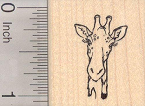 Giraffe Head Rubber Stamp