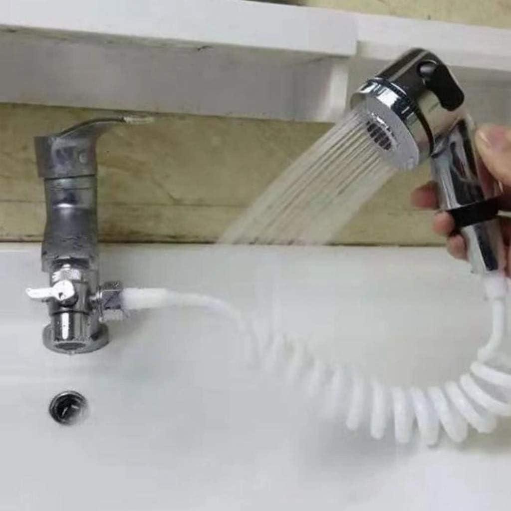 1,5 metri si collega al rubinetto Kit doccia portatile 2 modalit/à conversione facile da toccare a doccia Set di spruzzatori per rubinetto del lavandino del bagno