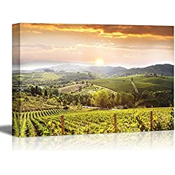 "Wall26 - Canvas Prints Wall Art - Chianti Vineyard Landscape in Tuscany, Italy | Modern Wall Decor/ Home Decoration Stretched Gallery Canvas Wrap Giclee Print. Ready to Hang - 32"" x 48"""