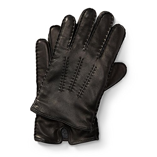 Polo Ralph Lauren Men`s Leather Touch Screen Gloves (RL Black (6G0099-001) / Black, Medium) (Ralph Lauren Polo Leather Gloves)