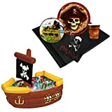 BirthdayExpress Pirates Party Supplies Tableware Cooler Kit