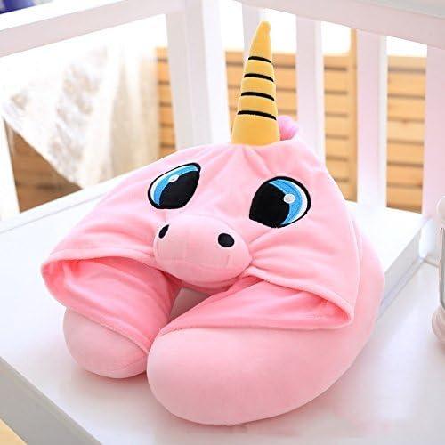 EUGU Travel Pillow Cartoon Unicorn Neck