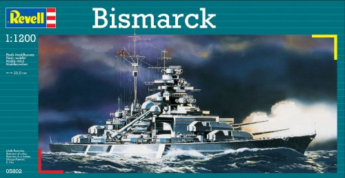 Model Ship Germany Plastic (Revell of Germany BISMARCK Plastic Model Kit)