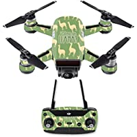 Skin for DJI Spark Mini Drone Combo - Llama| MightySkins Protective, Durable, and Unique Vinyl Decal wrap cover | Easy To Apply, Remove, and Change Styles | Made in the USA