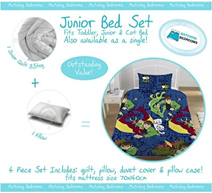 Matching Bedrooms Cot Bed Junior Toddler Ben 10 Alien Force Bedding Bundle Sets Includes Duvet Duvet Cover Pillow And Pillowcase Amazon Co Uk Kitchen Home