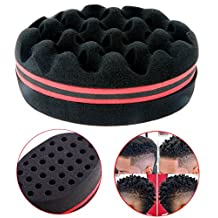 Professional Hairstyling Sponge Hair Brush Magic Hairbrush for Twists, Afro Hairdos, Coils, Curls, Waves, Braids and Dreadlocks Dreads Styles