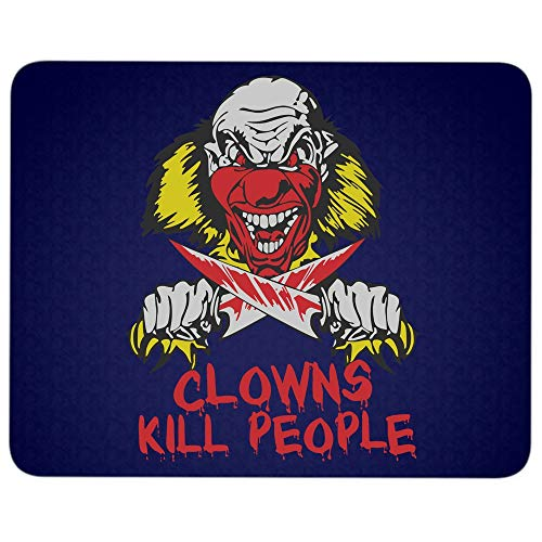 Clowns Kill People Mouse Pad for Typist Office, Halloween Serial Killer Clown Quality Comfortable Mouse Pad (Mouse Pad - Navy) -