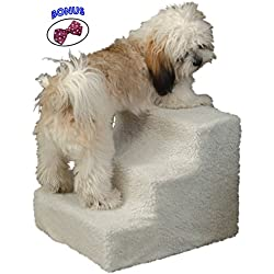 Pet Store 3-Step Staircase for Small and Older Dogs, 18 x 14 x 12-Inch