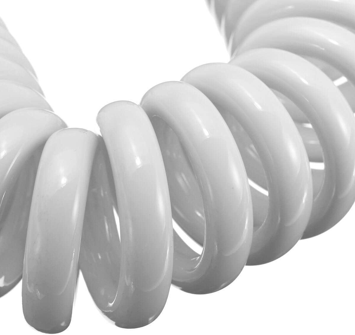 1.5 m ABS t/él/éphone lin/éaire printemps douche tuyau flexible plomberie tuyau toilette bidet pulv/érisateur buse connexion tuyau-Blanc