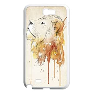 High Quality {YUXUAN-LARA CASE}Powerful Lion For Samsung Galaxy Note 2 STYLE-16