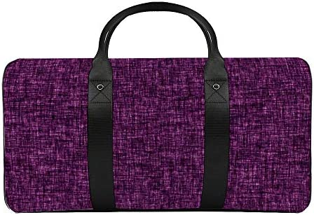 黒紫1 旅行バッグナイロンハンドバッグ大容量軽量多機能荷物ポーチフィットネスバッグユニセックス旅行ビジネス通勤旅行スーツケースポーチ収納バッグ