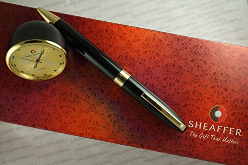 Sheaffer Made in the USA Legacy Heritage with Gold appointments Ball Pen and Sheaffer Gold Desk Watch Corporate Gift Set in gift (Best Sheaffer Pen Sets)