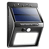 SMADZ SL11 Solar Motion Light 16 LEDs Auto On/Off Security Wireless for Outdoor Garden Wall Fence StepDriveway Stairs Gutter Yard Patio Pool (White Light, 1-Pack)
