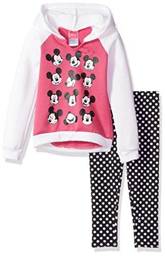 Disney Baby Girls 2 Piece Minnie Hooded Sweatshirt With Legging, Pink, 12M Disney Clothes