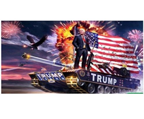 USA Premium Store Donald Trump Flag Rare Tank 2016 3x5 Foot Digital Print Banner New - Banner Print