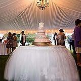 OLizee Romantic Wedding Party Birthday Supply Dessert Station Gauze Decoration(Style 7)