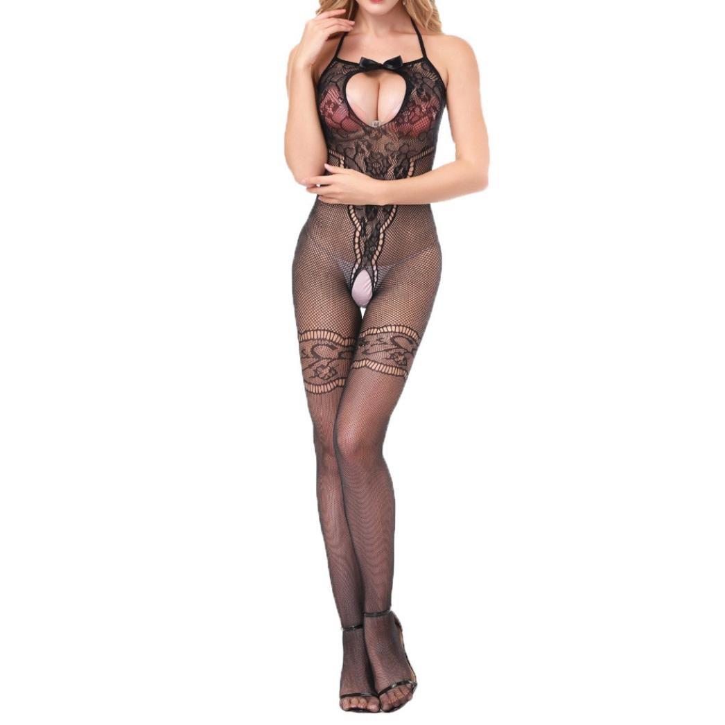 Body Lingerie Sleepwear Susenstone Open Crotch Stockings Crotchles Fishnet Sheer Susenstone - 3775 QingSex - 3775