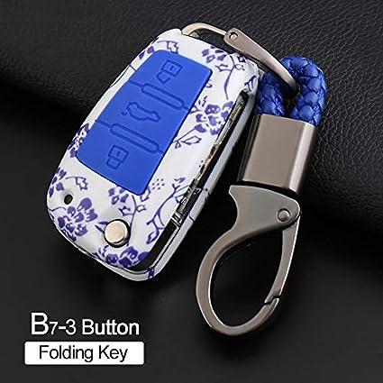Desconocido Funda para Llave Plegable de 3 Botones para Audi ...