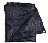 E.share 40% Black Shade Cloth Taped Edge with Grommets Sun Net Sun Mesh Shade Sunblock Shade Sail UV Resistant Net For plant cover For Greenhouse Flowers, Plants, Patio Lawn (20ft X 20ft)