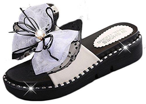 para vestir de Weiß sintético NEWZCERS Sandalias de mujer ZFqUazB