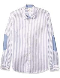 Dockers 55749-0006 - Pembroke, Slim Elbow Patch, Casual Sportshirt, Color Pin Stripe, Talla Mediano