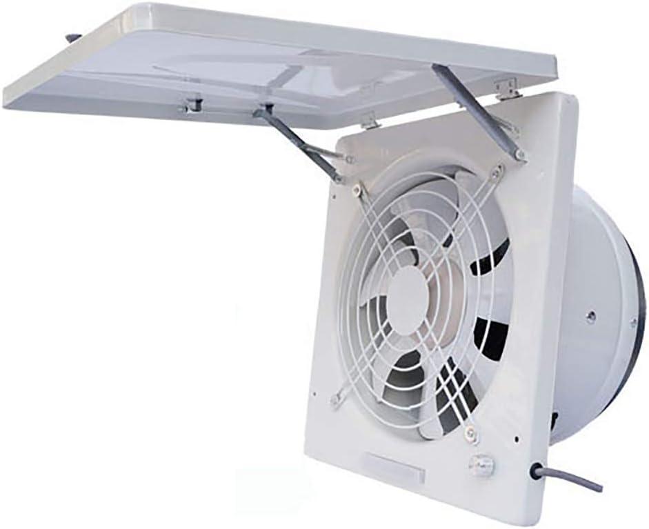 BCXGS Ventilador Extractor 13 Pulgadas, Extractor de Aire de Ventana con Tapa y Válvula Antirreflujo, Protección contra El Viento Lluvia y Insectos, para El Hogar, Hotel, Cibercafé y Oficina