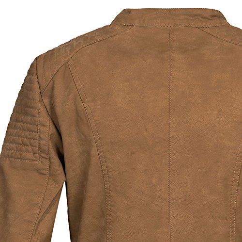 fc53d09823fe ... ONLY Damen Jacke Onlsteady Faux Leather Jacket Cc OTW Cognac khwAM8g1Lo  ...