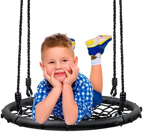 Sorbus Spinner Swing Kids Round Web Swing Great