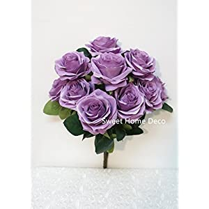 Sweet Home Deco 18'' Princess Diana Rose Silk Artificial Flower Valentine's Day (10 Stems/10 Flower Heads), The Most Beautiful Roses for Wedding/Home Decor 29