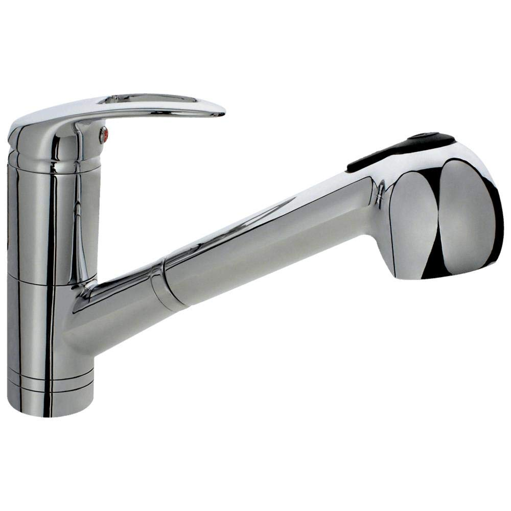 708-C Chrome Single Handle Kitchen Faucet with Pull-Out Spray