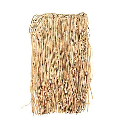 Natural Raffia Adult Hula Skirt, 3 Pieces