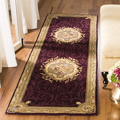 Safavieh Empire Collection EM414A Handmade Traditional European Dark Red and Dark Beige Premium Wool Area Rug (2'6