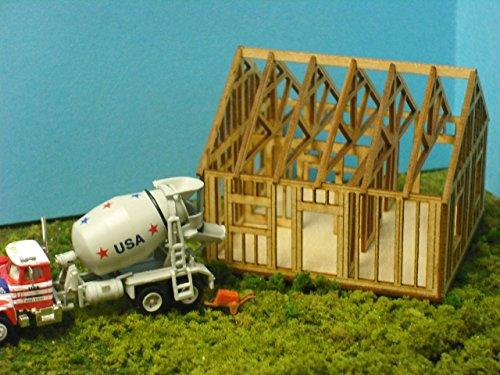 House Under Construction Kit - Train Time Laser N SCALE Laser Cut Single Story House Under Construction Kit