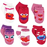 Sesame Street Elmo Abby Toddler Girls 6 pack Quarter Socks