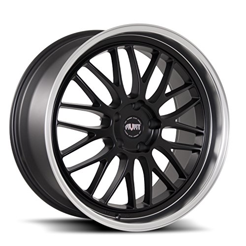 AVAT AV9 Matte Black Machined Lip Wheel with Machined Finish (20x8.5/5x112, 35mm Offset)