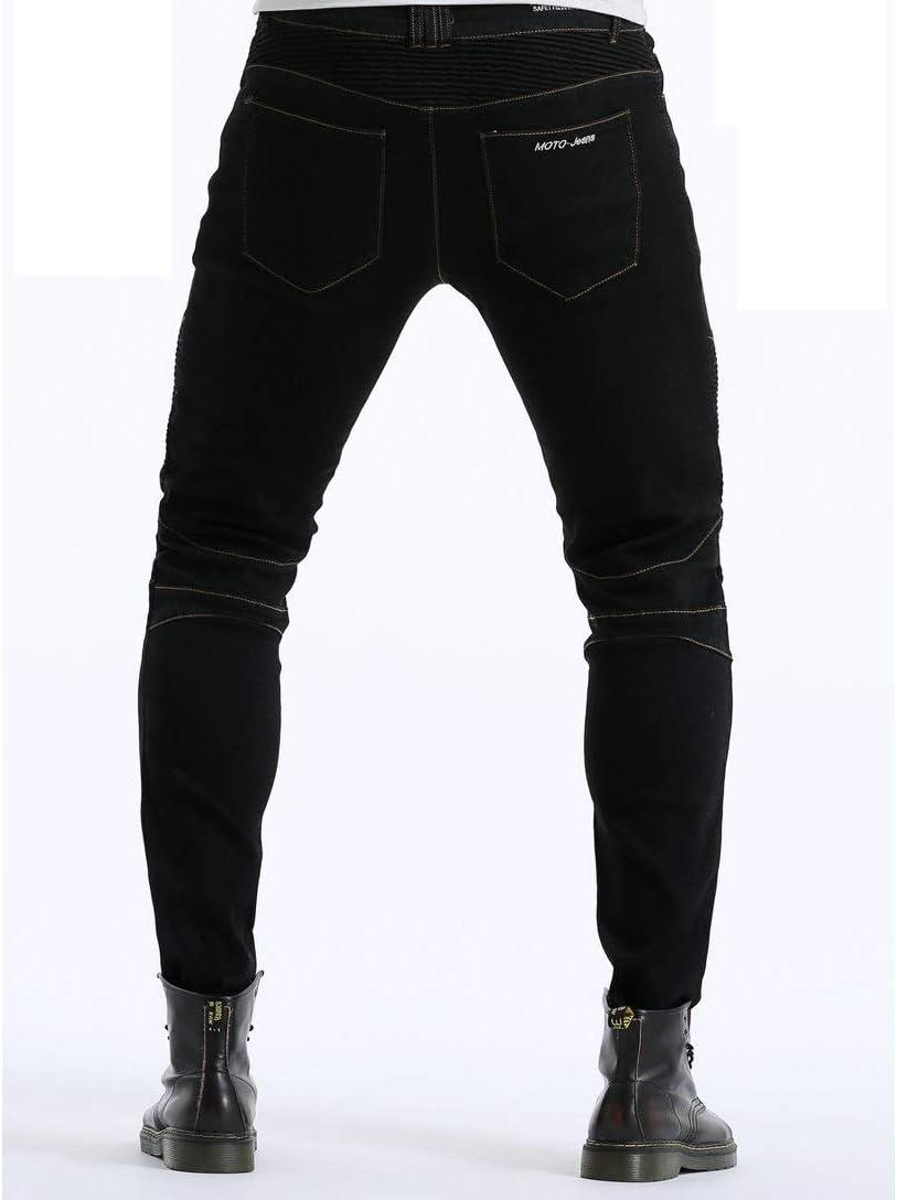 Schwarz, XXXL=38 105cm Waist Wasserdicht Motorradjeans Sportliche Motorrad Hose Mit Protektoren Motorradhose