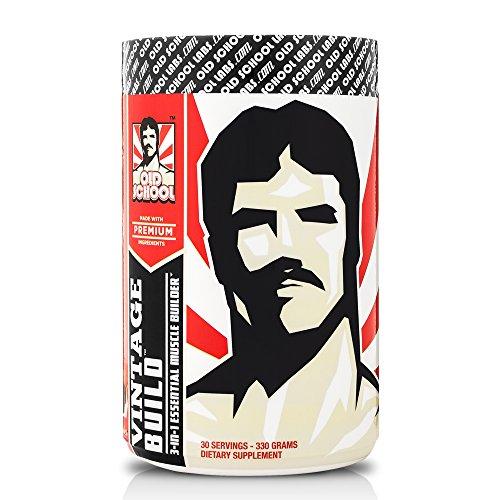 VINTAGE BUILD - The Essential Muscle Builder 3-en-1 - Premium BCAA, monohydrate de créatine, et L-glutamine - fraîches baies, 330 grammes