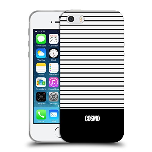 Official Cosmopolitan Black 1 Stripes Collection Soft Gel Case for Apple iPhone 5 / 5s / SE