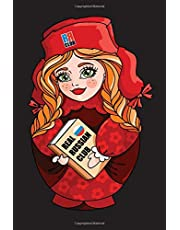 Real Russian Club: Russian language notebook for students with red matryoshka cover