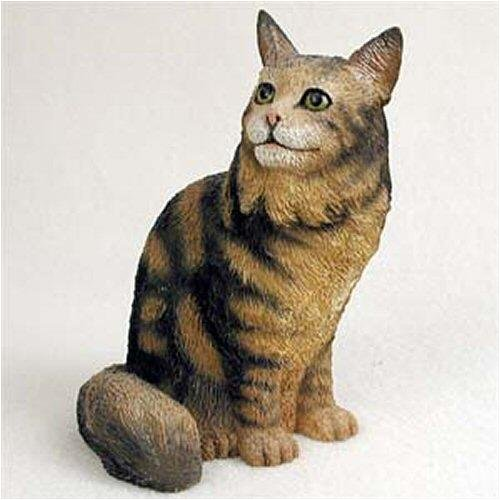 Conversation Concepts Maine Coon, Brown Tabby Original Cat Figurine (4in-5in) (Cat Original Figurine)